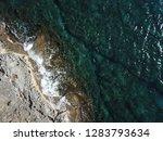 top view beach coastal strip ... | Shutterstock . vector #1283793634