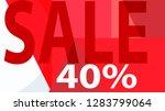 sale banner. off poster design. ... | Shutterstock .eps vector #1283799064