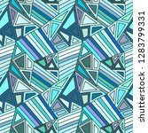 seamless vector blue pattern ... | Shutterstock .eps vector #1283799331