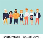 business characters  team ... | Shutterstock .eps vector #1283817091