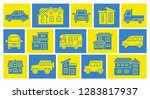 icon gallery of house and car   ... | Shutterstock .eps vector #1283817937