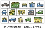 icon gallery of house and car   ... | Shutterstock .eps vector #1283817961