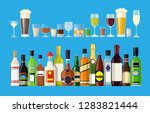alcohol drinks collection.... | Shutterstock .eps vector #1283821444