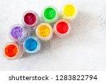 bright colourful powdered...   Shutterstock . vector #1283822794