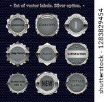 set of vintage vector metal ... | Shutterstock .eps vector #1283829454
