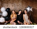 three charming younh lady... | Shutterstock . vector #1283830327