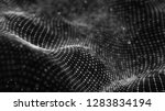 wave of particles. futuristic... | Shutterstock . vector #1283834194