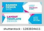 layout banner template design... | Shutterstock .eps vector #1283834611