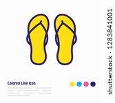 illustration of flip flops icon ... | Shutterstock . vector #1283841001