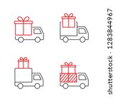 gift delivery vector icons | Shutterstock .eps vector #1283844967