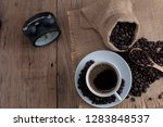 white coffee cup with coffee... | Shutterstock . vector #1283848537