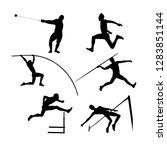 set group athletes men... | Shutterstock .eps vector #1283851144