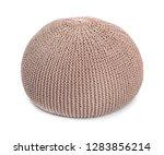 comfortable pouf on white... | Shutterstock . vector #1283856214