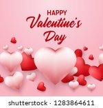 happy valentines day background ... | Shutterstock .eps vector #1283864611