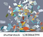 flying sheets of colored paper  ... | Shutterstock . vector #1283866594