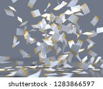 flying sheets of colored paper  ... | Shutterstock . vector #1283866597