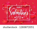 valentines day background with...   Shutterstock .eps vector #1283872051