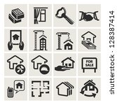 real estate icons | Shutterstock .eps vector #128387414