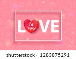 script love text with 3d red...   Shutterstock .eps vector #1283875291