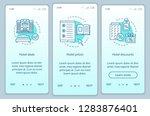 hotel online booking onboarding ... | Shutterstock .eps vector #1283876401