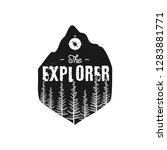 camping wildlife badge. the... | Shutterstock .eps vector #1283881771