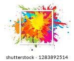 abstract splatter art paint...   Shutterstock .eps vector #1283892514