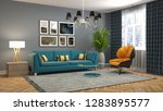 interior of the living room. 3d ... | Shutterstock . vector #1283895577