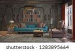 interior of the living room. 3d ... | Shutterstock . vector #1283895664