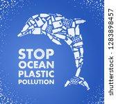 stop ocean plastic pollution.... | Shutterstock .eps vector #1283898457