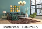 interior of the living room. 3d ... | Shutterstock . vector #1283898877