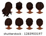 beautiful hairstyle of woman... | Shutterstock .eps vector #1283903197