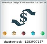 pictograph of money in hand | Shutterstock .eps vector #1283907157