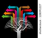 colorful arrows forming a tree | Shutterstock .eps vector #128391227