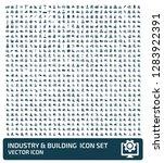 industrial vector icon set | Shutterstock .eps vector #1283922391