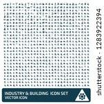 industrial vector icon set | Shutterstock .eps vector #1283922394