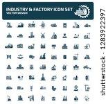 industrial vector icon set | Shutterstock .eps vector #1283922397