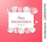 paper art of happy valentine's... | Shutterstock .eps vector #1283924791
