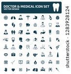doctor and medical vector icon... | Shutterstock .eps vector #1283928124