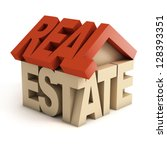 real estate 3d icon | Shutterstock . vector #128393351