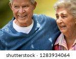 portrait of an affectionate... | Shutterstock . vector #1283934064
