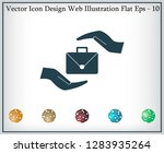 business bag and hand web icon. ... | Shutterstock .eps vector #1283935264
