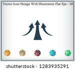 vector growing graph icon | Shutterstock .eps vector #1283935291