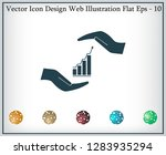 vector growing graph icon on... | Shutterstock .eps vector #1283935294