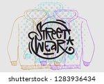 street wear fashion 90s casual... | Shutterstock .eps vector #1283936434