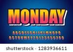 vector of modern font and... | Shutterstock .eps vector #1283936611
