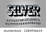 vector of modern font and... | Shutterstock .eps vector #1283936614