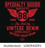 new york city vintage denim ... | Shutterstock .eps vector #1283943391