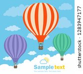 hot air balloon and clouds | Shutterstock . vector #1283947177