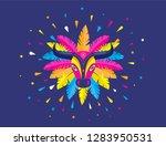 carnaval de barranquilla ... | Shutterstock .eps vector #1283950531