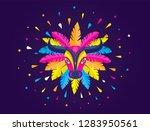 carnaval de barranquilla ... | Shutterstock .eps vector #1283950561